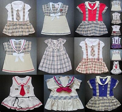 BABY GIRL DRESS Designer Outfit Cotton MANY COLOURS & DESIGNS Wedding Party Set