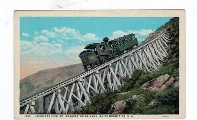 NH White Mountains New Hampshire Antique Railroad Train Post Card Cog Railway