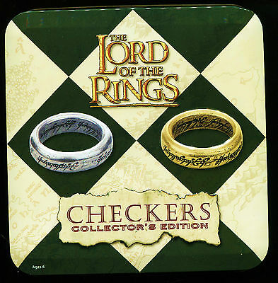 The Lord Of The Rings Checkers Collector's Edition-Hand-Sculpted/painted Pieces