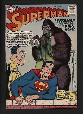 SUPERMAN #127  1st TITANO THE SUPER APE LOVELY GLOSSY COPY WHITE PAGES A CLASSIC