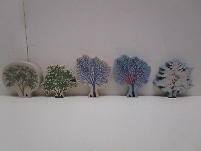 The Cat's Meow Village lot of 5 Trees
