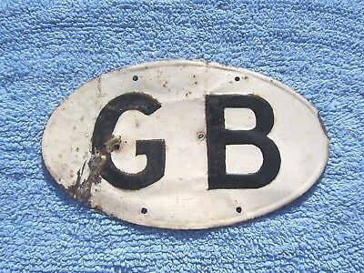 VINTAGE 1930s GREAT BRITAIN TOURING CAR BADGE -LARGE GB LORRY/TRUCK PLATE/EMBLEM