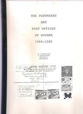 Book THE POSTMARKS & POST OFFICS OF GUYANA 1966-1986 by MP Nicholson