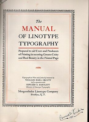 1923 Manual of Linotype Typography