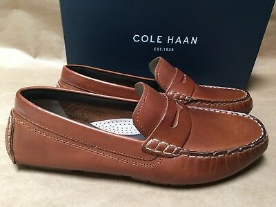 3ed015b769b NEW Cole Haan Kelson Penny Driving Shoes Leather Loafers C27002 Canyon Tan