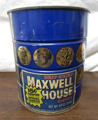 Vintage Nos Maxwell House Coffee 3 Pound Can Special Canister Sealed Unopened