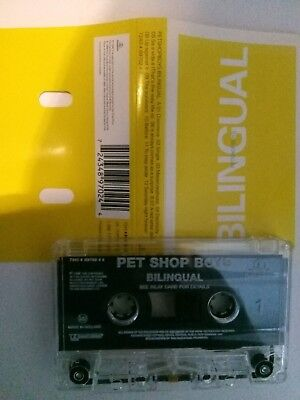 Pet Shop Boys - Bilingual - MC - Musikkassette - Tape - Cassette