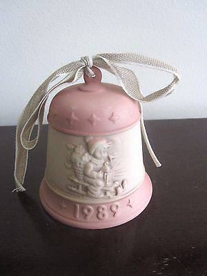 Goebel M I Hummel Christmas Bell - RIDE INTO CHRISTMAS ~HUM # 775 ~1989