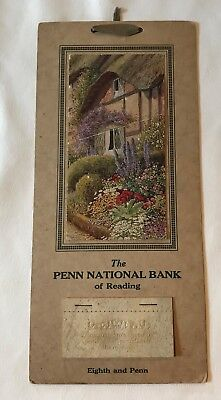 Nice 1928 Small Advertising Calendar Penn National Bank Reading PA  Missing Mths