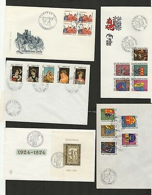 4963 Luxembourg - Luxemburg FDC mixed selection of First Day Covers  CARITAS