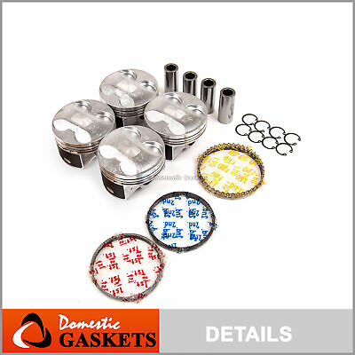Pistons and Rings Set fit 02-06 Acura RSX Type-S / 06-11 Honda Civic 2.0L K20Z3