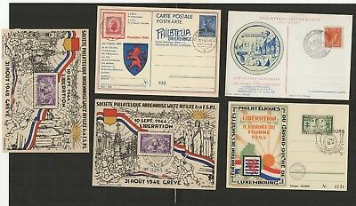 4964 Luxembourg - Luxemburg FDC First Day Covers Charlotte FSPL 1944/1945