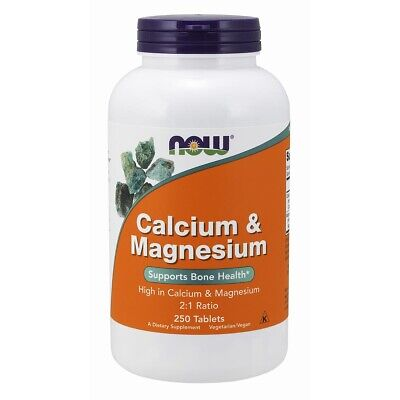 NOW Foods Calcium & Magnesium 250 Tablets FREE SHIPPING. MADE IN USA