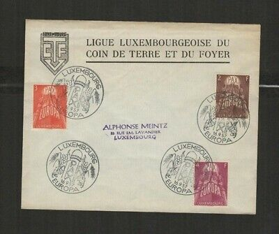 4974 Luxembourg - FDC First Day Cover 1957 Europa CEPT Alphonse Meintz Mi. 75€