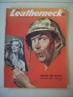 WW II U.S. Marine Corps USMC August 1945 LEATHERNECK Magazine Pin Up