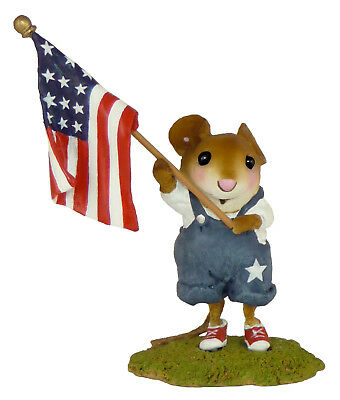HOMEGROWN STARS & STRIPES by Wee Forest Folk, WFF# FB-5a, Patriotic Mouse