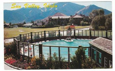 Sun Valley Idaho postcard Lodge Mt. Baldy Challenger Inn swimming pool