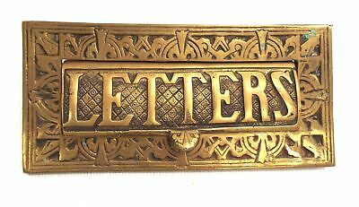 Large BRASS 'Letters' Letter Post Mail Door Plate of Vintage Style Design - C60