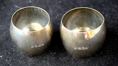 Pair Of Antique/Vintage SILVER Hallmarked NAPKIN RINGS, Sheffield 1918 - P15
