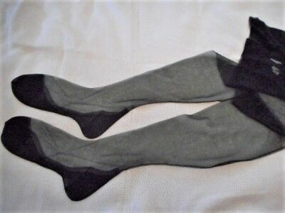 Vintage Saks 5Th Ave Black Shadow Cuban Heel Seamed 54G. Nylon Ff Stockings 10