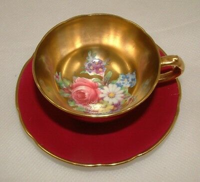 Sweet Early Fine Bone China Gilded Paragon Floral Cup & Saucer - Perfect