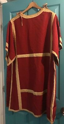 Stunning Rare Vintage Catholic Deacons Red & Gold Dalmatic