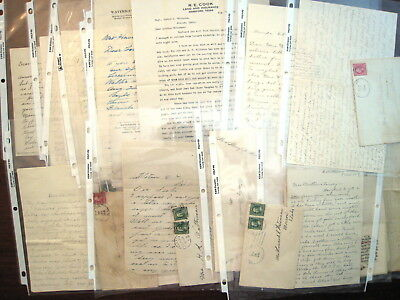McHenry Illinois, Hereford Texas 1900s Letters, Hand Drawn Sketch House