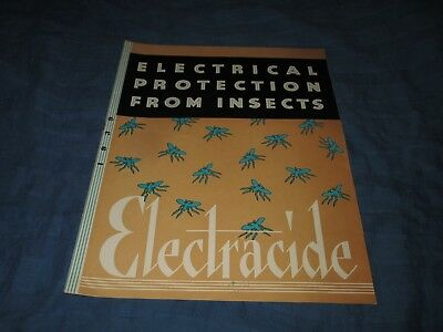ELECTRACIDE-ELECTRICAL PROTECTION FROM INSECTS-1940s DEALER SALES CATALOG