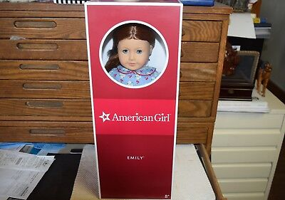 "American Girl EMILY DOLL NEW In Box w/ Book Headband Retired 18"" Molly's Friend"