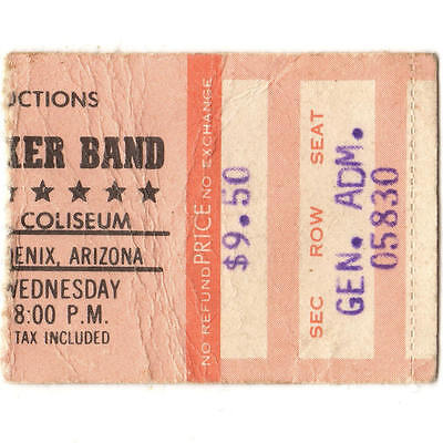 MARSHALL TUCKER BAND & PURE PRAIRIE LEAGUE Concert Ticket Stub 7/26/80 PHOENIX