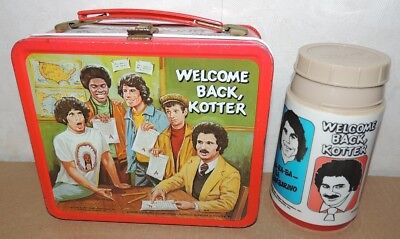 Welcome Back Kotter Lunch Box With Thermos Lunchbox Aladdin Vintage