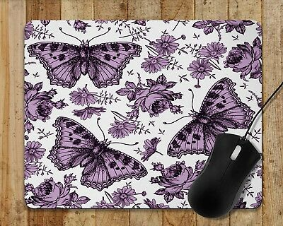 Mouse Pad Lots Of Colors Vintage Butterfly Roses Toile Decor Floral Mouse Pad