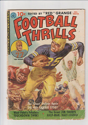 Football Thrills #1 G- 1951 Ziff Red Grange