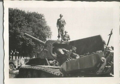 2 Vintage Wwii 1944 Us Army German Bombed Out Tiger Tank & Half-Track Photos