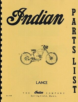 Enfield Indian ~  Lance ~ Motorcycle Manual ~ Parts List ~ Reprnt