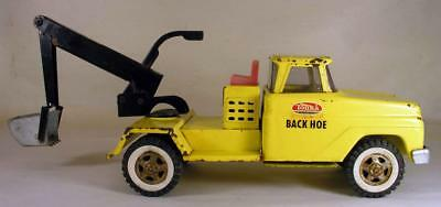 Vintage 1960's Tonka Toys Back Hoe Pressed Steel Truck Complete Very Nice Cond.
