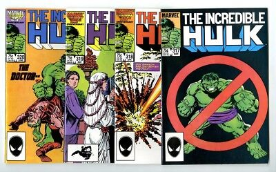 Incredible Hulk #317,318,319,320 Avg NM- New Marvel Bronze Copper Collection