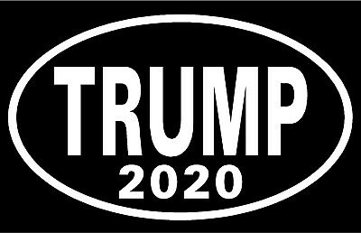 Set Of 2 Oval DONALD TRUMP 2020  Vinyl Decal Sticker Car Window Bumper  FREE S/H