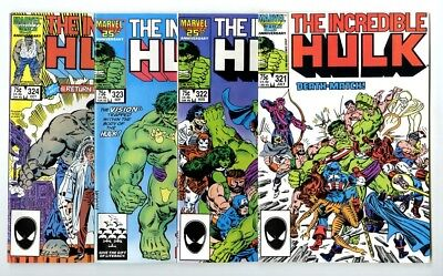 Incredible Hulk #321,322,323,324 Avg NM New Marvel Bronze Copper Collection