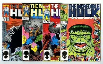 Incredible Hulk #325,326,332,333 Avg NM New Marvel Bronze Copper Collection