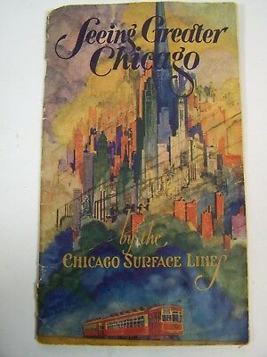 VTG 1926 Chicago Surface Line Street Cable Car Railway Train Trolley guide book