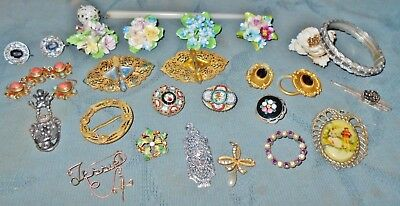 Nice Large Lot  Victorian to Antique to Vintage  Repair Parts Jewelry