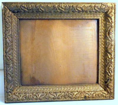 """Antique 13½x15½"""" Victorian Frame w Glass Holds 10x12"""" Picture or Mirror c1880s"""