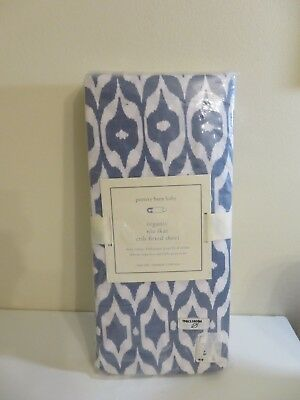 Pottery Barn Baby Organic Nia Ikat Crib Fitted Sheet New