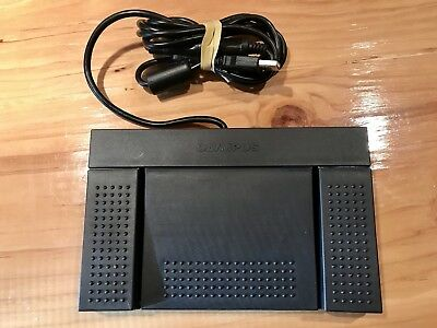 Olympus Dictation Stenography FOOT PEDAL RS27 Switch With Cables ~MINT~
