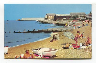 Whitstable - The Beach - c1970's Kent postcard