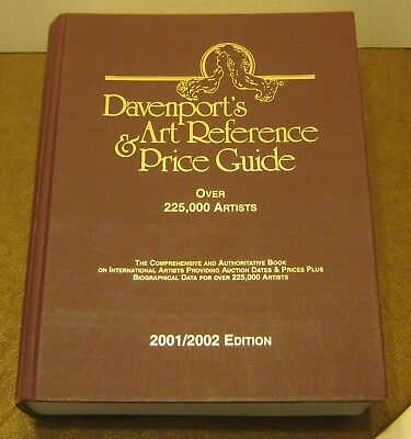 DAVENPORT'S Art Reference & Price Guide 2001/2002 EDITION Excellent Shape!!!!