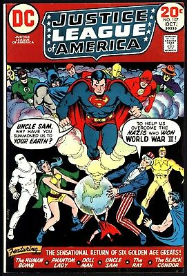 Justice League Of America #107  Freedom Fighters Return! Nice Tight Vf- Cents