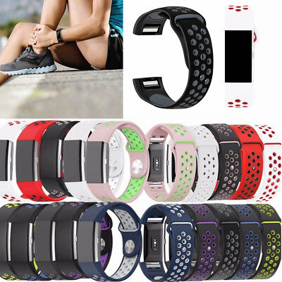 For Fitbit Charge 2 Soft Silicone Replacement Sport Strap Watch Band Wristband