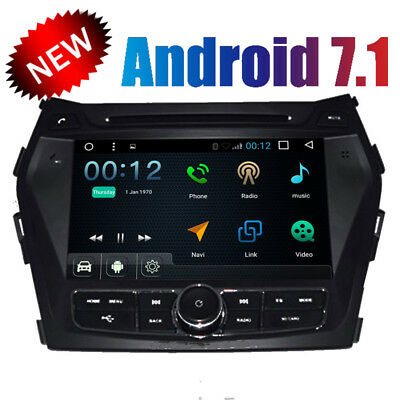 Android 7.1 8'' Car DVD Stereo GPS Navi For Hyundai IX45/Santa Fe 2014+ WIFI